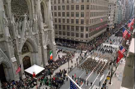 ... and family for the 250th annual St. Patrick's Day Parade in NYC