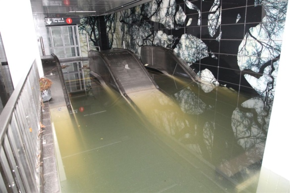 South Ferry, under water